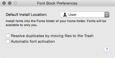 Font Management in macOS and OS X